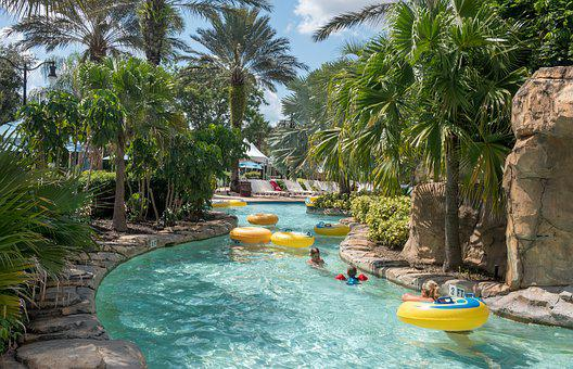 Wate Rpark, Lazy River, Florida, Tropical, Outdoor