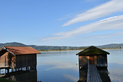 More, Boathouse, Wooden, Quiet, Water, Outdoor
