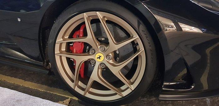Ferrari, Wheel, Tire, Brake Caliper