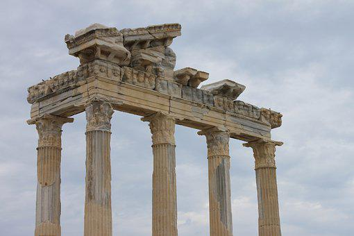 Apollos Temple, Side, Turkey, Building, Antiquity