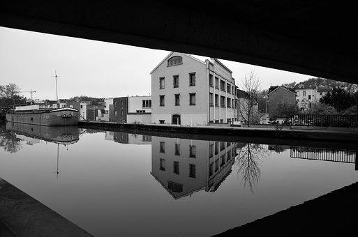 Nancy, Channel, River, City, Urban, Architecture