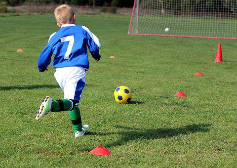 Football, Children, Prep, Course, Run, Ball, Game