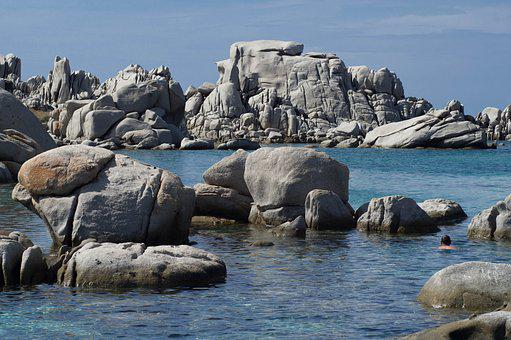 Corsican, Mediterranean, Holiday, Rocks, Bathing