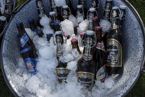 Beer, Beer Bottles, Chilled, Ice, Alcohol, Drink