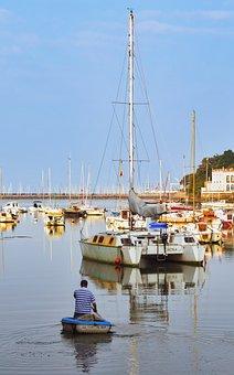 Boat, Fishing, Sea, Port, Marina, Fisherman