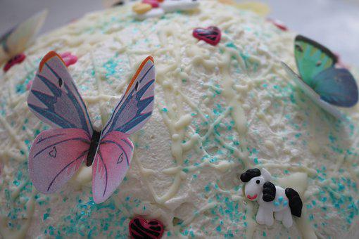 Cake, Birthday Cake, Butterfly, Bake