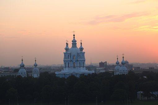 Sunset, Sky, Horizon, Cathedral, Nature