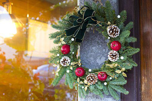 Christmas Wreath, Christmas, Wreath