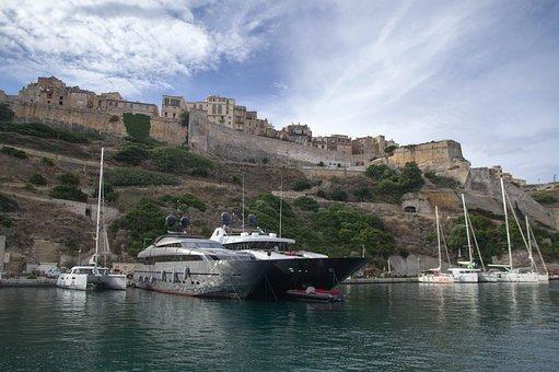Corsican, Bonifacio, Citadel, Ramparts, Port, Yacht