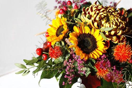 Bouquet, Autumn, Colorful, Decoration, Autumn Flowers