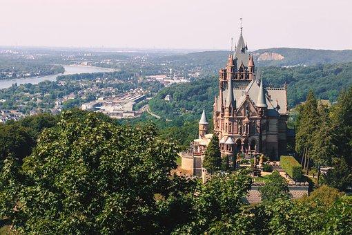 Siebengebirge, Dragon Castle, Dragon Rock, Rhine