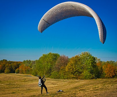 Paraglider, Wind, Courageous, Nature, Sport, Flying