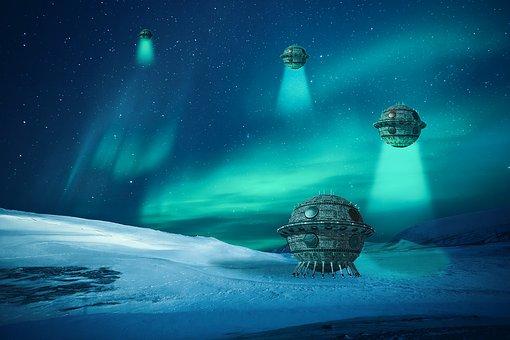 Forward, Ufo, Space, Robot, Fantasy, Futuristic