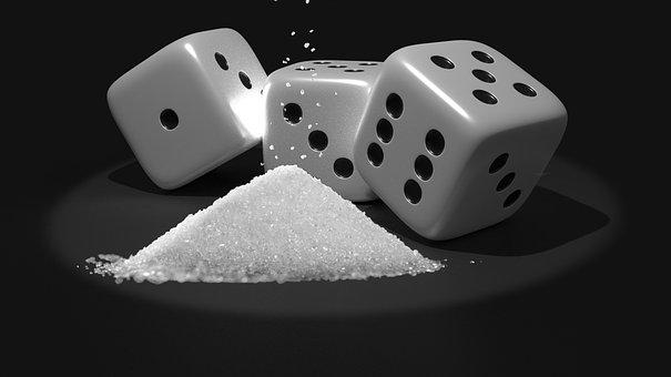 Sugar Lumps, Composing, Cube, Craps, Luck, Gambling