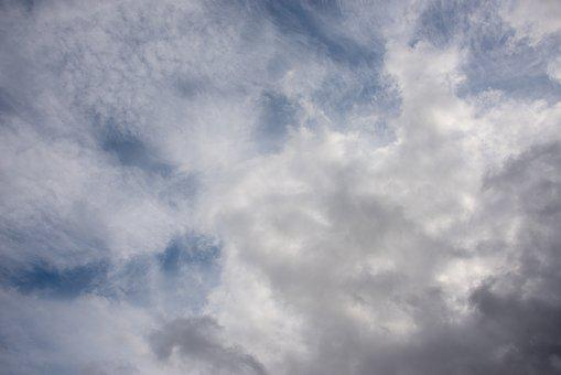 Texture, Sky, Clouds, Blue, Grey, White