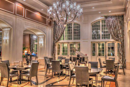 Luxury Hotel, Vacation, Piano Bar, Chandelier, Holiday