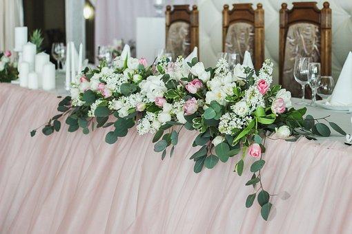 Decor, Flowers, Wedding, Ornament, Husband, Wife