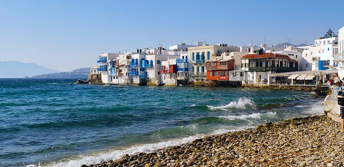 Mykonos, Greece, Little Venice, Island, Vacation