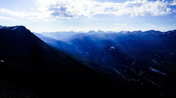 Lake, Canada, Landscape, Nature, Sky, Mountains