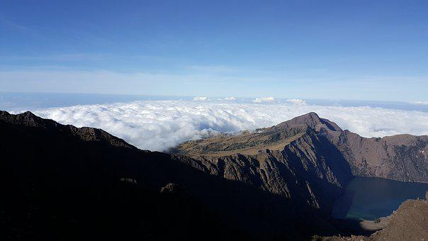 Rinjani Volcano, Tracking, Lombok, Indonesia