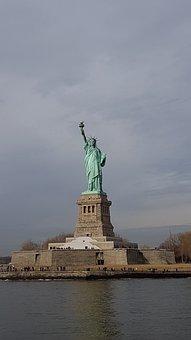 New York, Usa, Liberty, Liberty Island, Manhattan