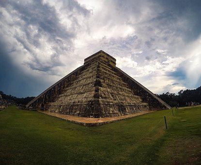 Mexico, Pyramid, Tourism, Maya, Ruins, Old, Culture