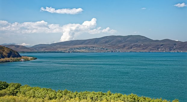 Armenia, Lake Sevan, Landscape, Lake, Mountains, Water