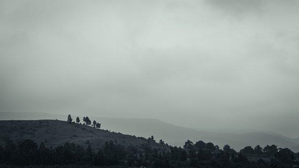 Landscapes, Monochrome, Sky, Landscape, Scenic, Nature