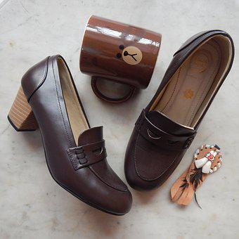 Brown, Pair Of Shoes, Browny, Mug, Pair, Shoes, Style