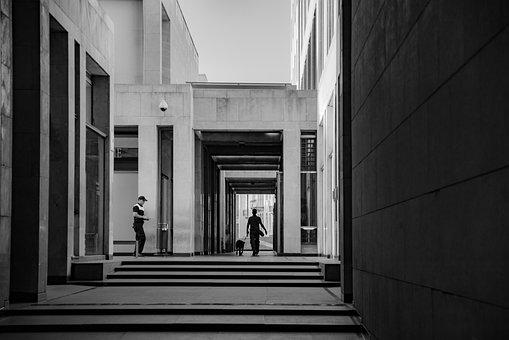 Passage, Corridor, Pedestrian, Shopping Mall, Evening