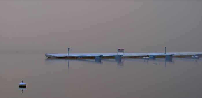 Utstikker, Fog, Winter, Pier
