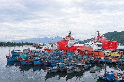 The Boat, Boat Fishing, Pier, The Marina, Danang