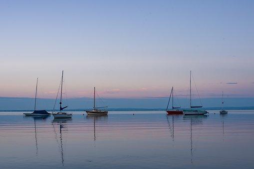 Lake Balaton, Balatonalmádi, Port, Ships, Sailboats