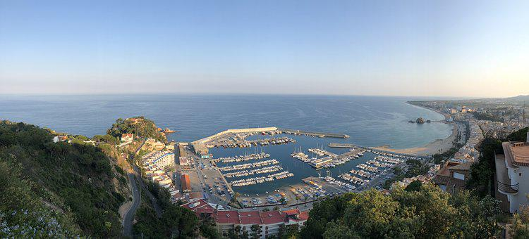 Spain, Blanes, Sea, Summer, Spane, Catalonia