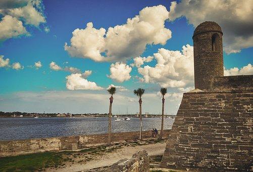 St Augustine, Fortress, Usa, Florida, Landscape