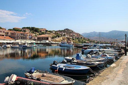 Molivos, Lesbos, Greece, City, Island, View, Summer