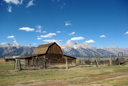 Mormon Row Barn, Grand, Teton, National Park, Wyoming