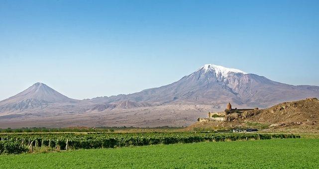 Armenia, The Monastery Of Khor Virap, Ararat, Landscape