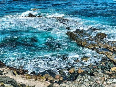 Sea, Stones, Rock, Surf, Blue, Swim, Travel, Vacations
