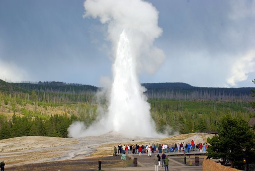 Old Faithful, Upper, Geyser, Basin, Yellowstone