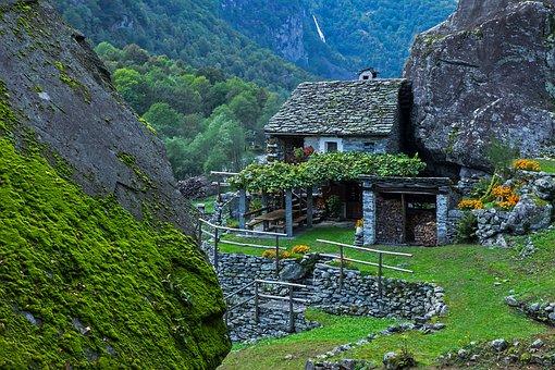 Rustico, Ticino, Stone House, Val Bavona, Val Maggia