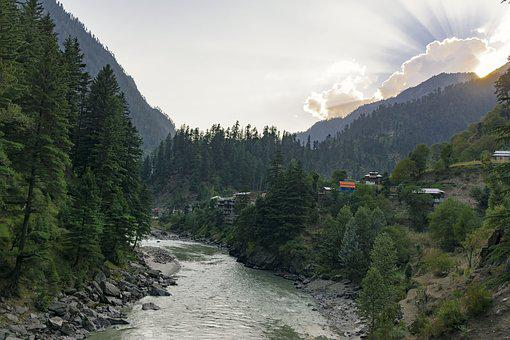 Neelum, Valley, River, Landscape, Nature, Water