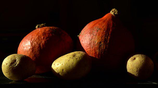 Vegetables, Potato, Pumpkin, Hokkaido, Cook