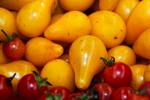 Tomatoes, Yellow, Red, Vegetables, Food, Healthy, Fresh