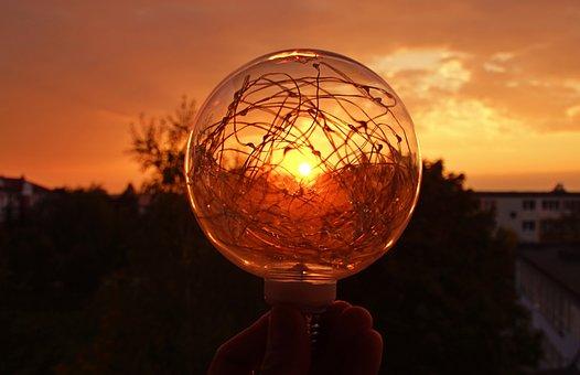 West, Energy, The Light Bulb, Sky, Figure, Twilight
