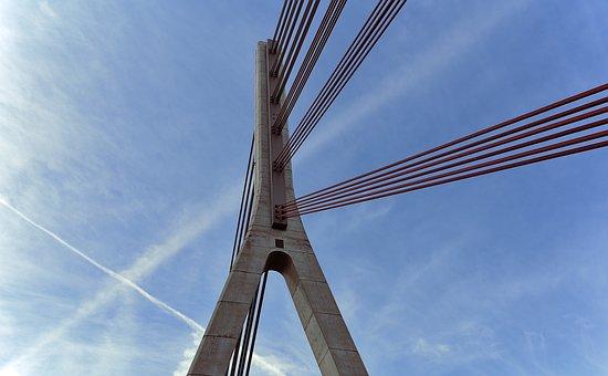 Lower Rhine Bridge, Wesel, Sky, Architecture, Building