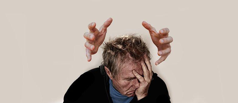 Burnout, Man, Face, Bullying, Stress, Shame, Arrows