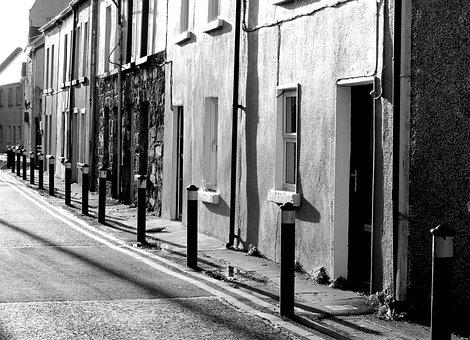 Street, Black And White, Light, Urban, City