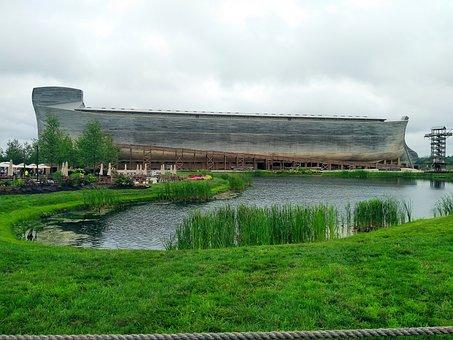 Noah, Ark, Ship, Water, Wood, Boat, Christianity, Flood