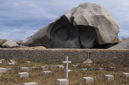 Corsican, Lavezzi Isles, Cemetery, Graves, Cross
